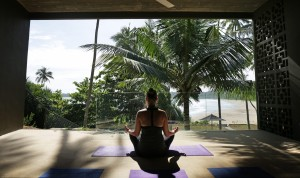 Sea breeze yoga studio with ocean view