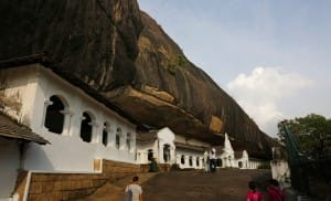 Outside Dambulla Cave Temple