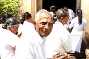 Smiling local monk Anuradhapura
