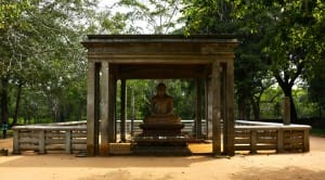 Outdoor ceremonial Bhudda statue at Anuradhapura