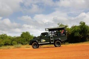 Safari car in Yala National Park