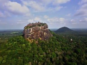 Aerial view of Sigirya ancient rock fortress