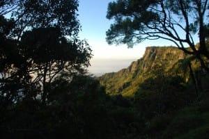 Mountains in World's End & Horton Plains National Park