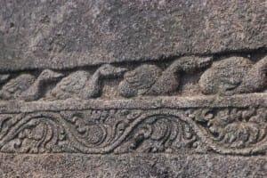 Engraved stone at Polonnaruwa