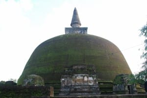 Round top temple at Polonnaruwa