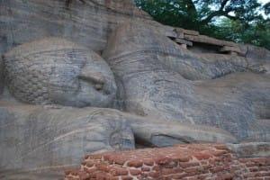 Lying Bhudda statue at Polonnaruwa