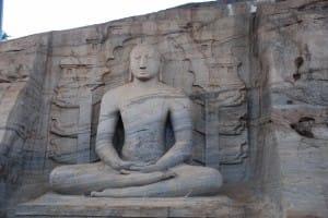Seated Bhudda at Polonnaruwa