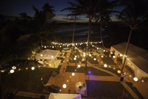 Decorations and outdoor tents