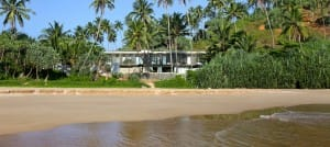 View of Talalla House from the beach