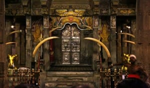Inside Kandy Temple