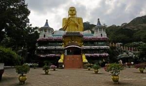 Entrance to Dambulla Cave Temple