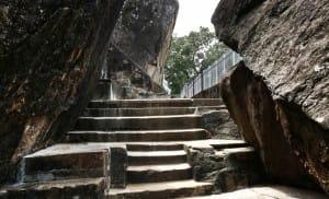Stone carved stairs at Anuradhapura