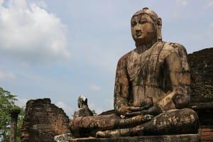 Statue in Polonnaruwa