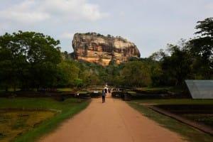View of Sigirya ancient rock fortress