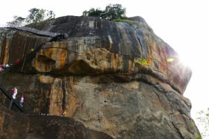 Peak at Sigirya ancient rock fortress