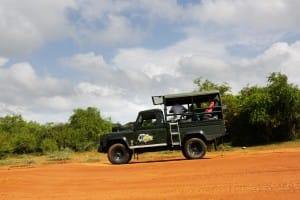Safari car in Yala National Park