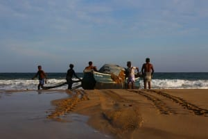 Fisherman on Talalla Beach