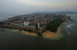 Galle city from above