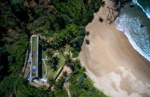 Aerial view of Talalla House and Beach