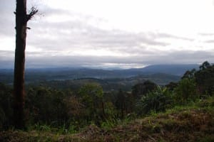 View from high in World's End & Horton Plains National Park