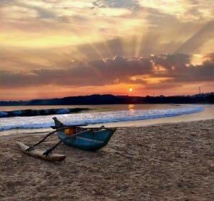 Sunset on Talalla Beach