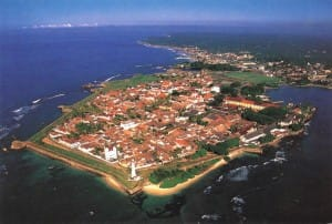 Galle city aerial view